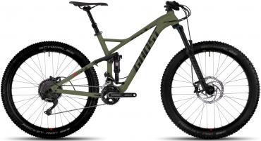 Ghost Hamr 6.7+ AL U 27.5R+ Fullsuspension Mountain Bike 2018 Army green / Night black / Riot red | L/48cm