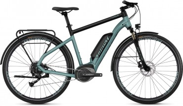 "Ghost Hybride Square Trekking B1.8 AL U Bosch Elektro Fahrrad 2019 River Blue/Jet Black | 28"" Herren Diamant S/47cm"
