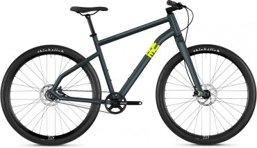 Ghost Square Times 6.9 AL U Urban Bike 2019 Frosted Blue/Neon Yellow | M/52cm