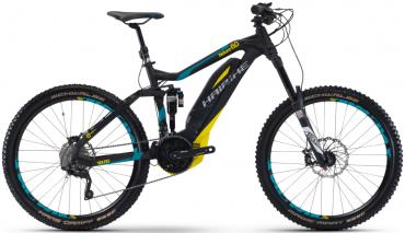 Haibike SDURO NDURO 6.0 27.5R Elektro Fahrrad/Enduro Mountain eBike 2017 Schwarz/Cyan/Gelb | 47cm