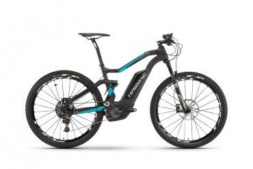 Haibike XDURO FullSeven Carbon 8.0 500Wh Elektro Fahrrad/27.5R Fullsuspension Mountain eBike 2017 Carbon/Cyan/Rot matt | 50cm
