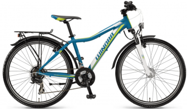 Winora Dash 21-Gang TY300 26R All Terrain Bike 2018 Cyan/Weiß/Lime matt | 35cm