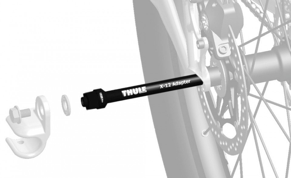 Thule Syntace X-12 M12x1.0 Achsadapter