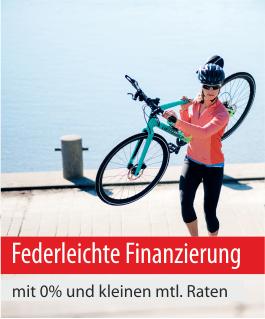 Federleichte Finanzierung mit 0% und kleinen monatlichen Raten