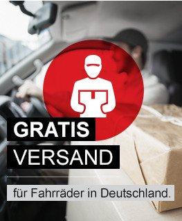 Gratis Versand für Fahrräder in Deutschland